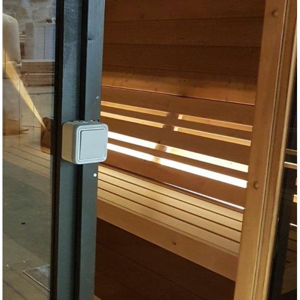 Led lys og rygstøtte til Tønde Sauna