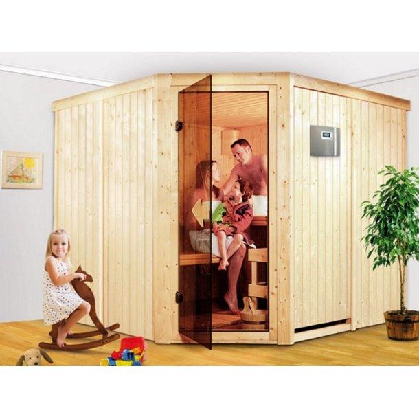 Sauna Kabine Farin 231x231x198 cm 9 kW Elovn