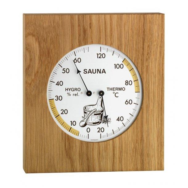 Sauna Termometer Hygrometer egetræ