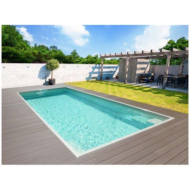 Smaragd Keramisk Pool Pakke 6,0 x 3,2 x 1,4 meter