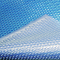 Termotæppe bredde 4 m 400 micron blå / sølv
