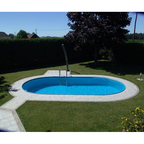 Oval Pool Toscana Højde 1,5 m 0,6 mm liner Flere størrelser