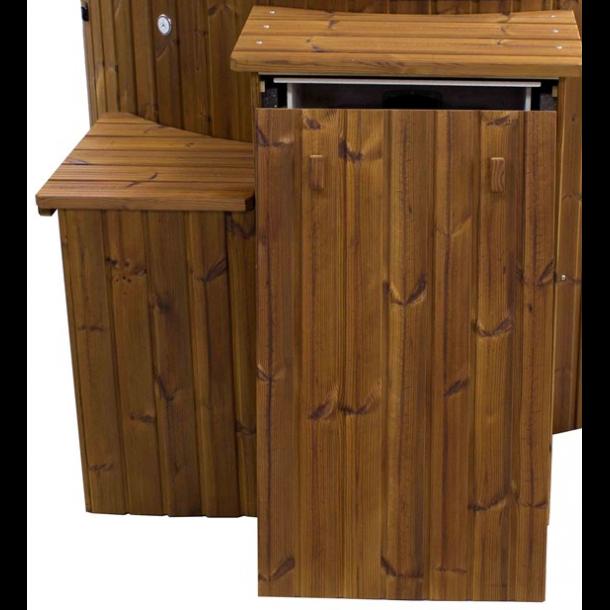 Isoleret træ kasse/boks til beskyttelse af gasovn og gasflaske