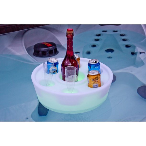 Flydende Drink holder med LED-lys til Spa og Pool